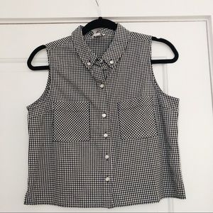 Black and White Checkered Top from Forever 21